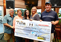 The 27th Annual Ocean City Tuna Tournament donates $3,510.00 to fire victims, the Pusey Family.